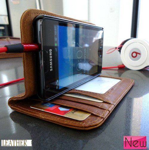 Galaxi S2 leather case  02