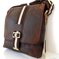 Genuine Leather Shoulder Bag Messenger iPad laptop Tote italy new