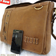 Genuine Leather Shoulder Bag Messenger BRIEFCASE DUFFLE FLIGHT TRAVEL BAG MEN 16