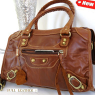Genuine 100% leather woman bag brown purse tote hobo lady MESSENGER new HANDBAG