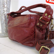 Genuine real leather woman bag design red Wine soft tote Handbag lady gift hobo