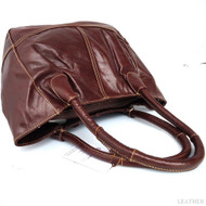 Genuine real leather woman bag brown purse tote hobo lady handbag style top new