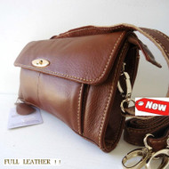 Genuine real leather woman purse tote Ladies wallet Clutch Coin RETRO Design BAG brown