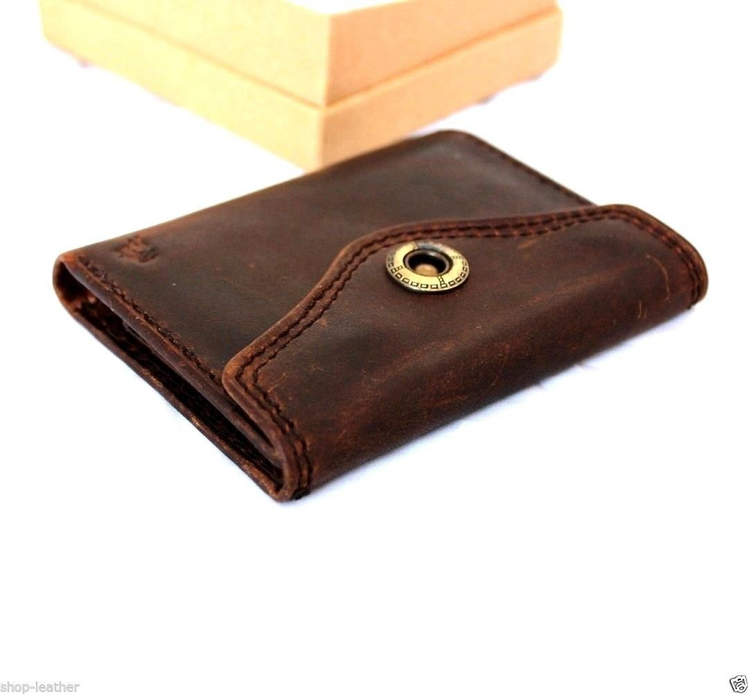 4f3a9ad743e ... Men Money Clip Genuine Leather wallet gents Coin Pocket Purse Pouch  used style R. Image 1
