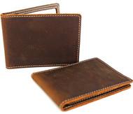 Men's Genuine Leather wallet Bill credit card slots slim handmade Id retro oiled Jafo 1948