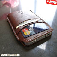 genuine real leather case for iphone 4s cover purse bag s 4 book wallet 3 3s id slim