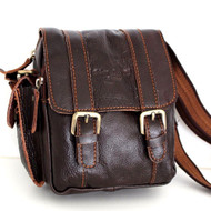 Genuine real natural Leather Shoulder Belt Bag Messenger small man woman tote s