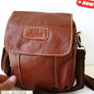 Genuine real natural Leather Shoulder Belt Bag Messenger small man woman tote MI