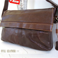 Genuine Leather Shoulder Satchel Bag handbag tablet man woman laptop 14 new 13