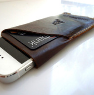 Genuine 100% natural Leather Sleeve Pouch handmade retro style Case Brown For iPhone 3G, 3GS, 4 & 4S S id new