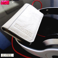 genuine real leather case for iphone 4s cover s 4 book wallet  card WHITE
