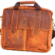 Genuine vintage leather men messenger shoulder bag  handbag cowhide tote cross body 13 14 10