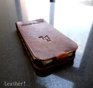 genuine vintage leather case for iphone 5 cover book wallet stand flip free shipping !