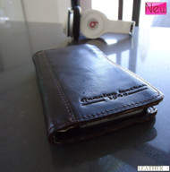 genuine 100%  natural leather case for SONY xperia z cover purse pouch book wallet sonyexz brown  new