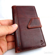 genuine natural leather Case for Samsung Galaxy S3 III s 3 book wallet stand holder 3s free shipping