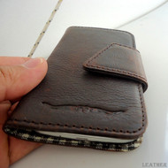 genuine full leather Case for Samsung Galaxy S4 s 4 book wallet handmade skin 4g
