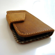genuine real leather case for iphone 4s cover s 4 book wallet stand handmade pro