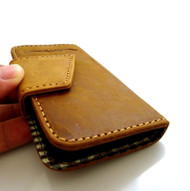 genuine bull leather case for iphone 5 book wallet cover handmade retro skin id