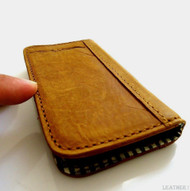 genuine vintage leather Case For Samsung Galaxy Note II 2 book wallet handmade N