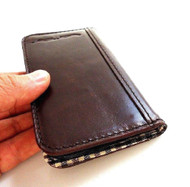 genuine soft real leather Case fit for sony xperia z book wallet handmade id NEW