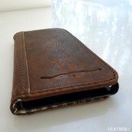 genuine bull real leather Case fit for sony xperia z book wallet handmade id NEW