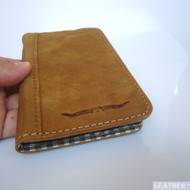 genuine real leather Case For Samsung Galaxy Note I 1 book wallet handmade no1
