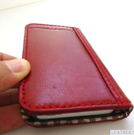 genuine leather Case For Samsung Galaxy Note II 1 book wallet handmade no1 red id