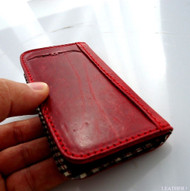 genuine natural leather case for iphone 4s cover purse pouch s 4 book wallet stand red win