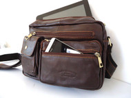 Genuine real Leather Shoulder Bag Cowhide handbag man Messenger australia russia