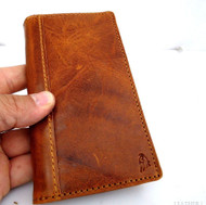 genuine vintage leather Case for htc butterfly s book wallet handmade russia