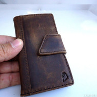 genuine real leather case for iphone 4s cover s 4 book wallet stand handmade il