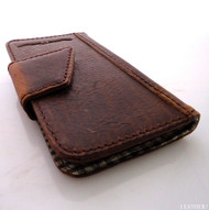 genuine real natural leather Case fit Galaxy S3 3S s 3 book wallet creditcards R