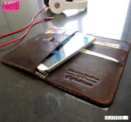 genuine classic leather Case for sony xperia z2 book wallet handmade and Galaxy Legend