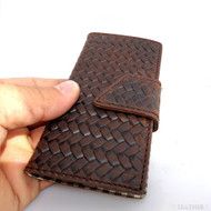 genuine real natural leather Case fit Galaxy S3 3S s 3 book wallet creditcards R handmade