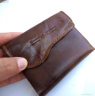 Genuine leather Men LEATHER WALLET Purse Coin purse bi id slot Bifold Pocket uk