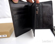 Men Money Clip Genuine retro Leather wallet id gift Pocket Purse Pouch slim S uk