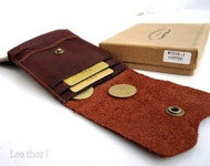 Men Money Genuine Leather wallet Billfold slim handmade CASE Money Clip retro au