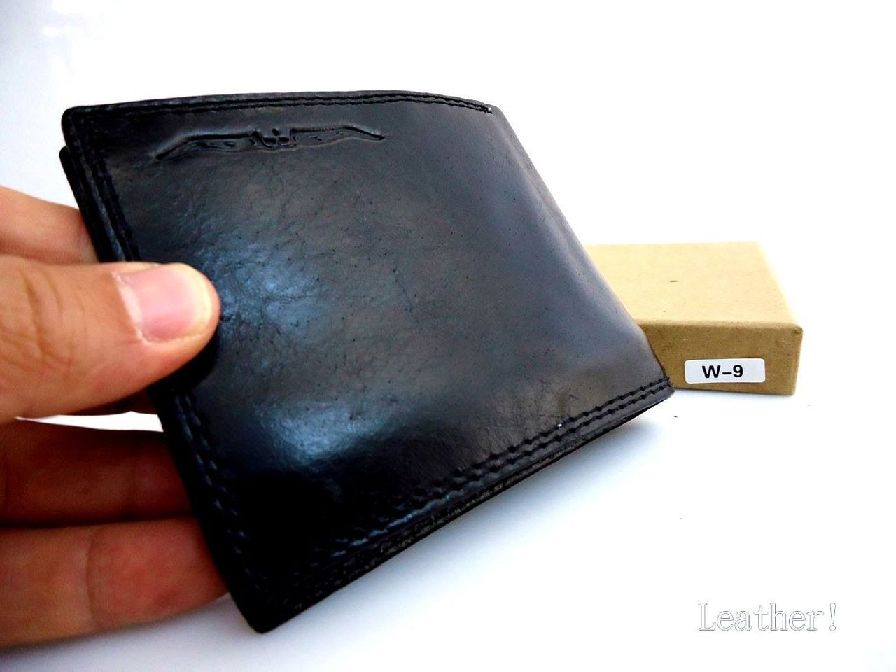 c012ffc8b02 Home · Mens  Men Money Clip Genuine retro Leather wallet id Coin Pocket  Purse Pouch slim blac. Image 1