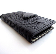 genuine vintage leather case for samsung galaxy NOTE 2 II cover purse book wallet stand Crocodile