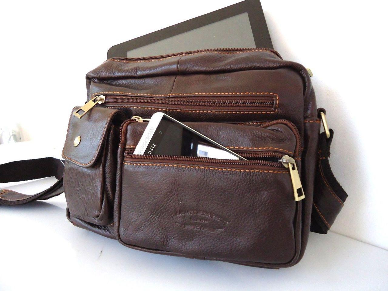 Home · Mens  Genuine real Leather Bag ipad air mini new 2 3 man woman cross  body tablet ebook. Image 1 6648fc6ada