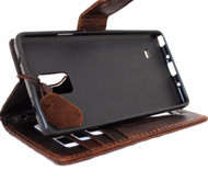 genuine leather Case For Samsung Galaxy Note 3 book wallet handmade brown art