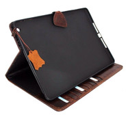genuine real Leather Bag for iPad air 1 case cover handbag apple stand magnetic  3g