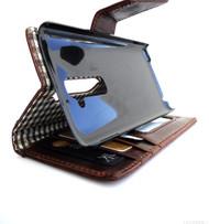 genuine vintage leather Case for LG G2 slim book wallet handmade MAGNET close