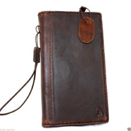 genuine cow leather Case For Samsung Galaxy Note 3 book wallet handmade brown