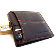 Men's genuine leather card money wallet ru Bifold Purse Holder Trifold Money