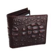 Men Money Clip Genuine Leather wallet Coin Pocket Purse crocodile creditcards TA