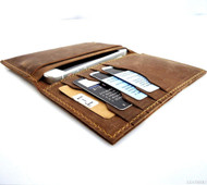 genuine leather case FIT iphone 5 5s 5c SE book wallet cover handmade cards slim