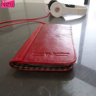 genuine real leather Case for Samsung Galaxy S4 s 4 book wallet handmade wine us