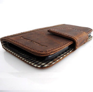 genuine 100% eather Case for Samsung Galaxy mega 6.3 I9200 book wallet handmade