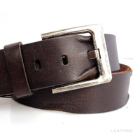 Genuine full Leather belt 43mm mens womens Waist handmade classic brown size L new